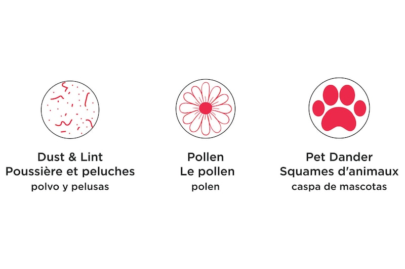 Filters Allergens & Particles from the Air