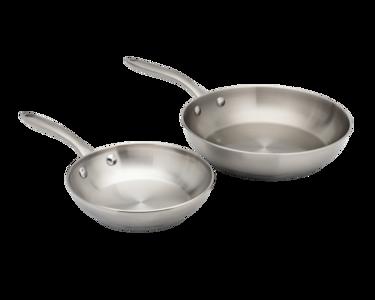 ReadyCook™ 2 Piece Fry Pan Set Stainless Steel 11FFSPAN14
