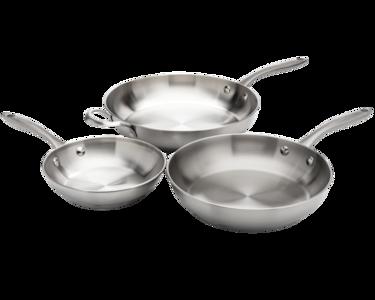 ReadyCook™ 3 Piece Fry Pan Set Stainless Steel 11FFSPAN15