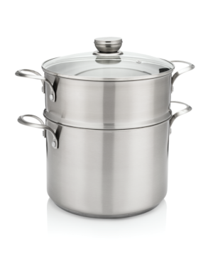 ReadyCook™ 8 qt Stockpot with Steamer and Lid Stainless Steel 11FFSPAN16