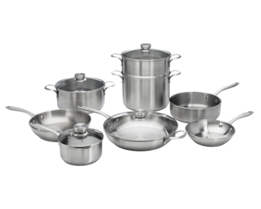ReadyCook™ 12 Piece Cookware Set Stainless Steel 11FFSPAN17