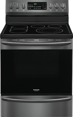 "30"" Electric Range Black Stainless Steel CGEF3062TD"