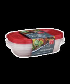 Frigidaire 3-Pack 32oz Plastic Rectangular Storage Container