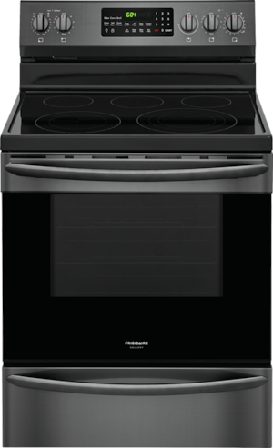 Frigidaire Gallery 30 Electric Range Black Stainless Steel Fgef3059td