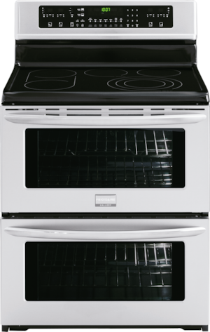 """30"""" Freestanding Electric Double Oven Range Stainless Steel FGEF308TNF"""