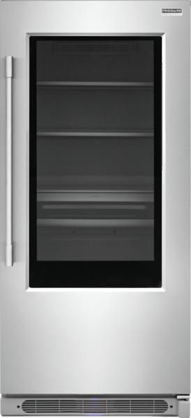 19 Cu. Ft. Glass Single-Door Refrigerator Stainless Steel FPGU19F8TF