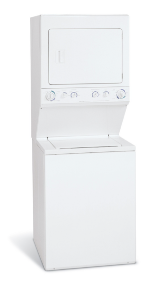 Frigidaire Gallery Electric Washer Dryer Laundry Center White Glet1031fs