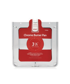 Smart Choice Square Chrome Burner Pan, Fits Most