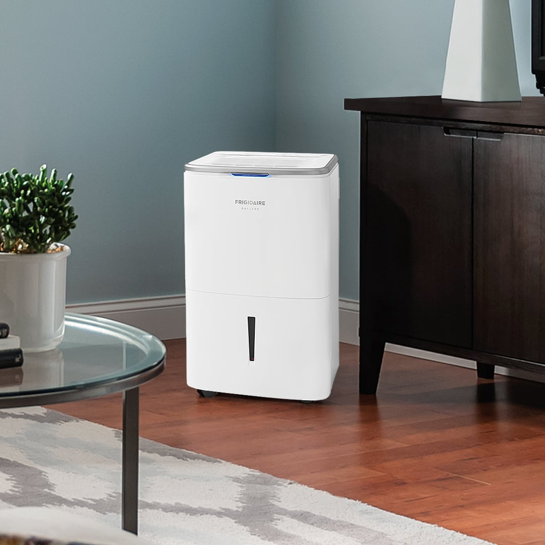 High Humidity 50 Pint Capacity Dehumidifier with Wi-Fi White FGAC5044W1