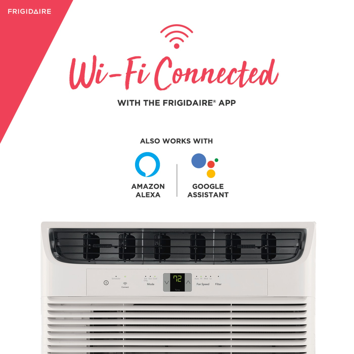 10,000 BTU Connected Window Air Conditioner White FHWW102WCE