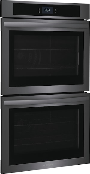 """30"""" Double Electric Wall Oven with Fan Convection Black Stainless Steel FCWD3027AD"""