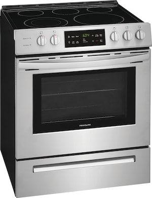 """30"""" Front Control Freestanding Electric Range Stainless Steel FFEH3054US"""