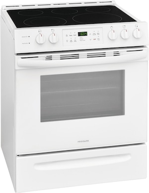 "30"" Front Control Freestanding Electric Range White FFEH3054UW"