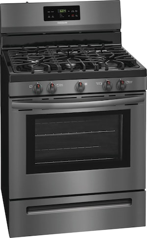 """30"""" Gas Range Black Stainless Steel FFGF3054TD"""
