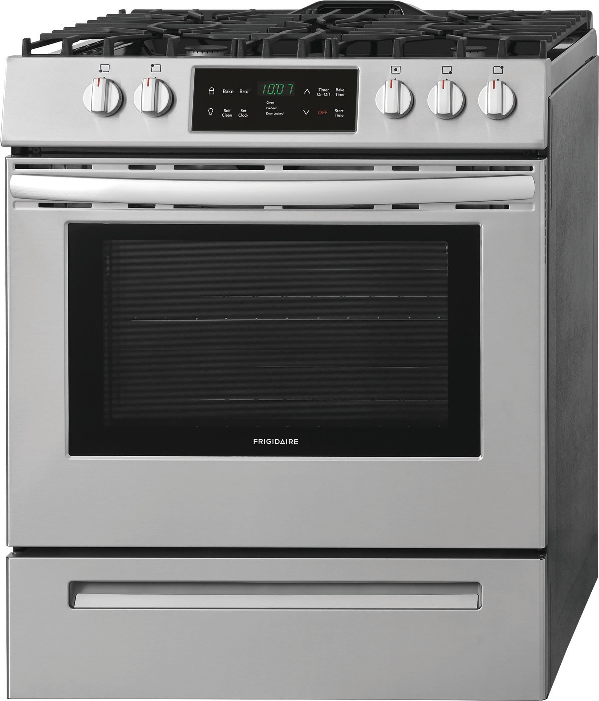 "30"" Front Control Freestanding Gas Range Stainless Steel FFGH3054US"