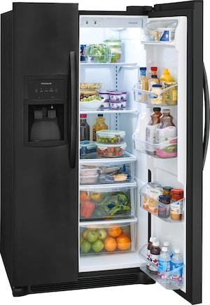 22.1 Cu. Ft. Side-by-Side Refrigerator Ebony Black FFHX2325TE
