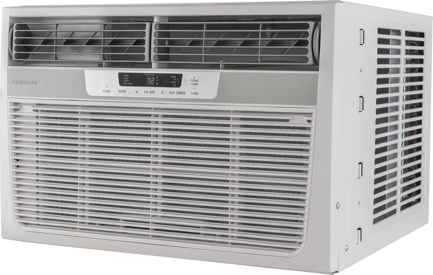 8,000 BTU Window-Mounted Room Air Conditioner with Supplemental Heat White FFRH0822R1