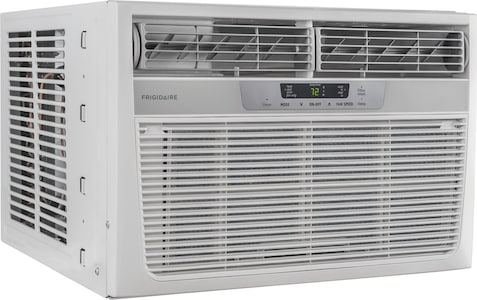 11,000 BTU Window-Mounted Room Air Conditioner with Supplemental Heat White FFRH1122UE