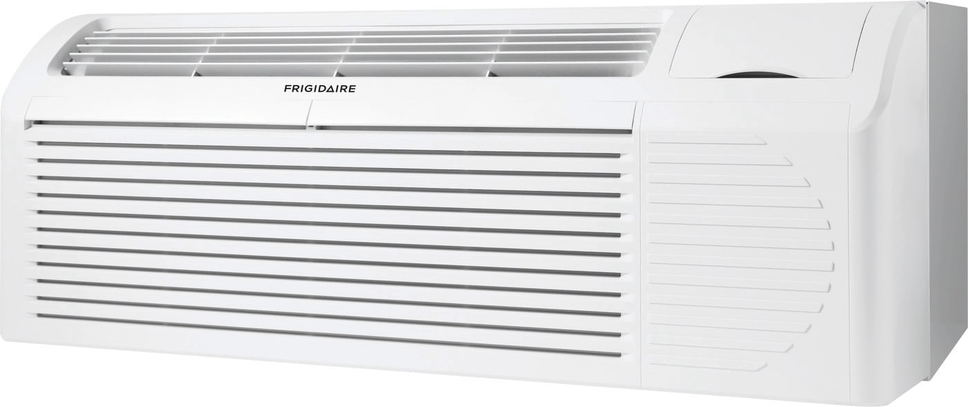 PTAC unit with Heat Pump and Electric Heat backup 9,000 BTU 265V with Corrosion Guard and Dry Mode White FFRP092HT5