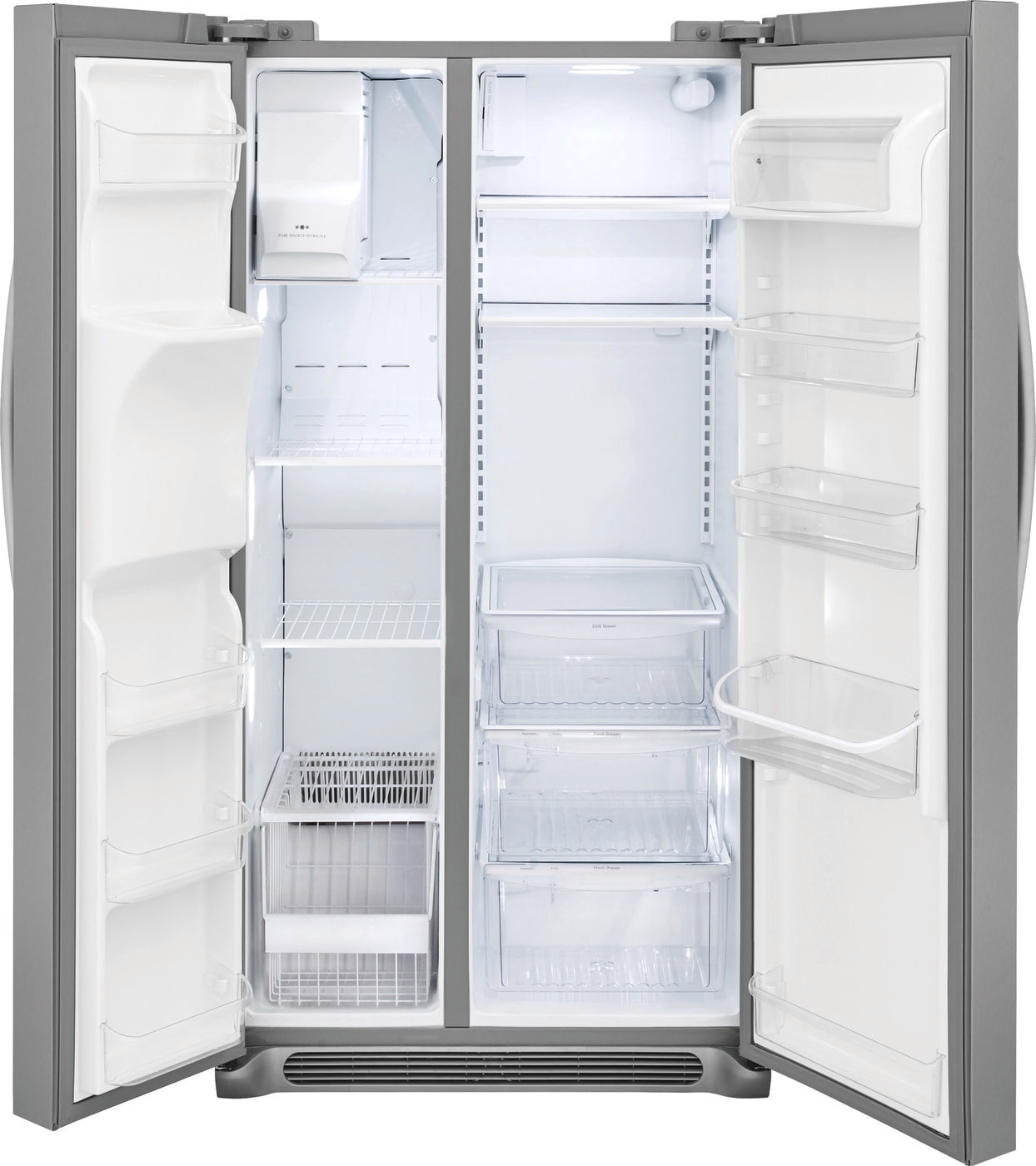 22.0 Cu. Ft. Counter-Depth Side-by-Side Refrigerator Stainless Steel FFSC2323TS