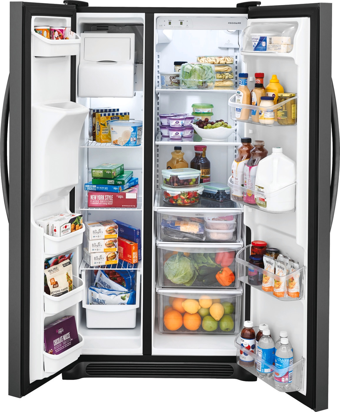 22.1 Cu. Ft. Side-by-Side Refrigerator Black Stainless Steel FFSS2315TD