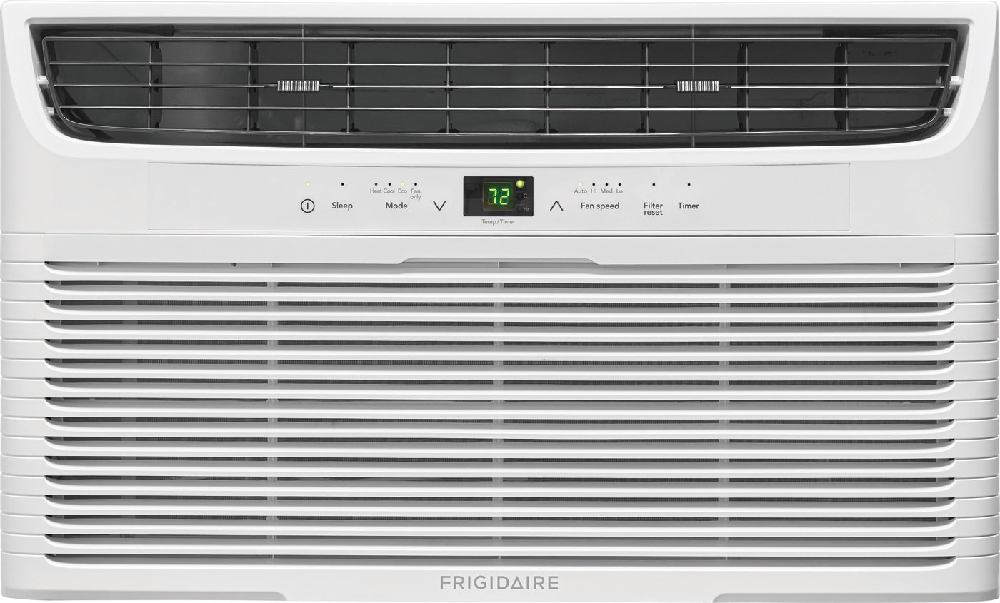 8,000 BTU Built-In Room Air Conditioner with Supplemental Heat- 115V/60Hz White FFTH0822U1