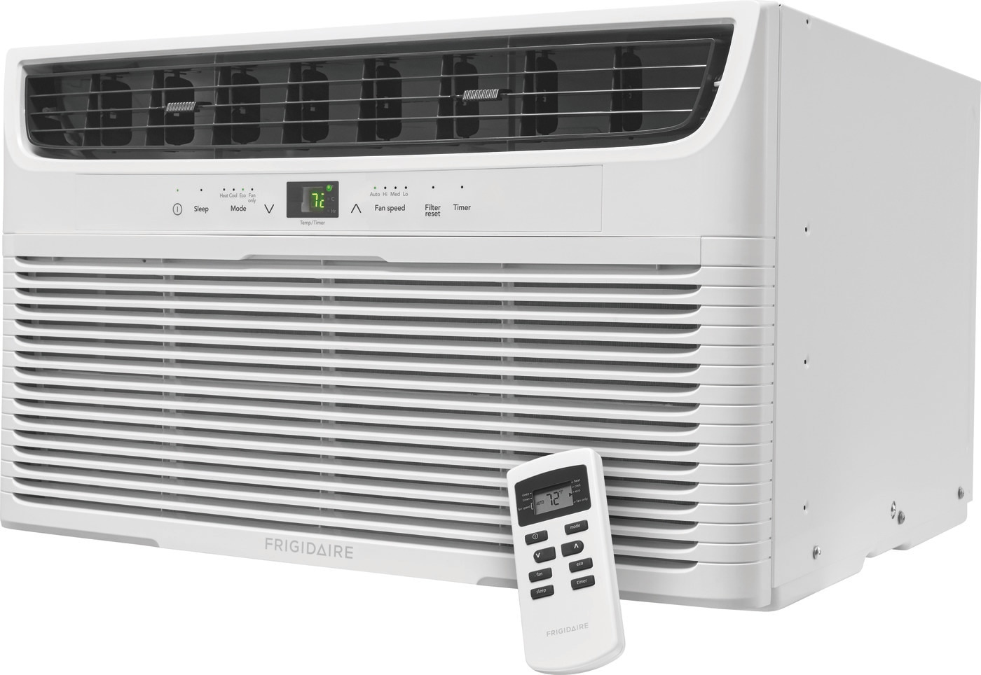 12,000 BTU Built-In Room Air Conditioner with Supplemental Heat- 230V/60Hz White FFTH1222U2
