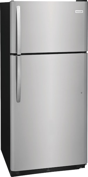 18 Cu. Ft. Top Freezer Refrigerator Stainless Steel FFTR1821TS