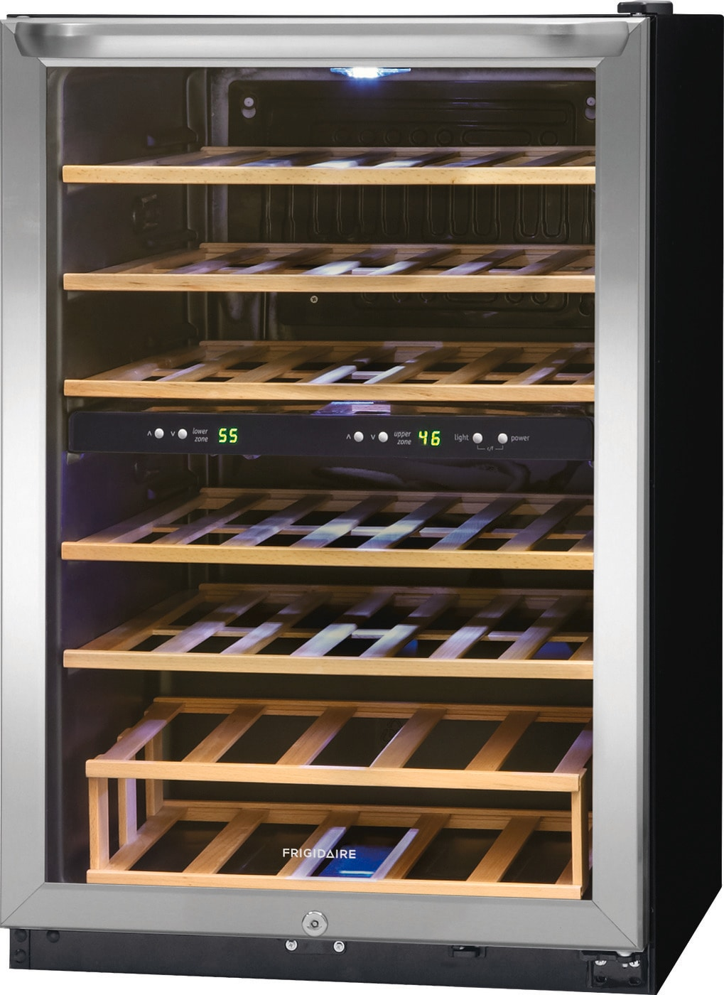 38 Bottle Two-Zone Wine Cooler Stainless Steel FFWC3822QS
