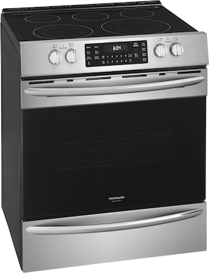 "30"" Front Control Electric Range with Air Fry Stainless Steel FGEH3047VF"