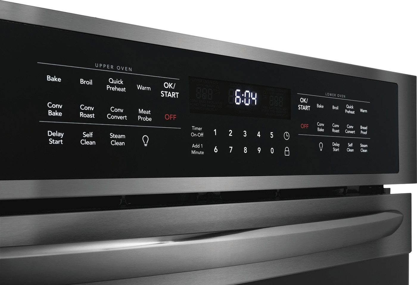 "27"" Double Electric Wall Oven Black Stainless Steel FGET2766UD"