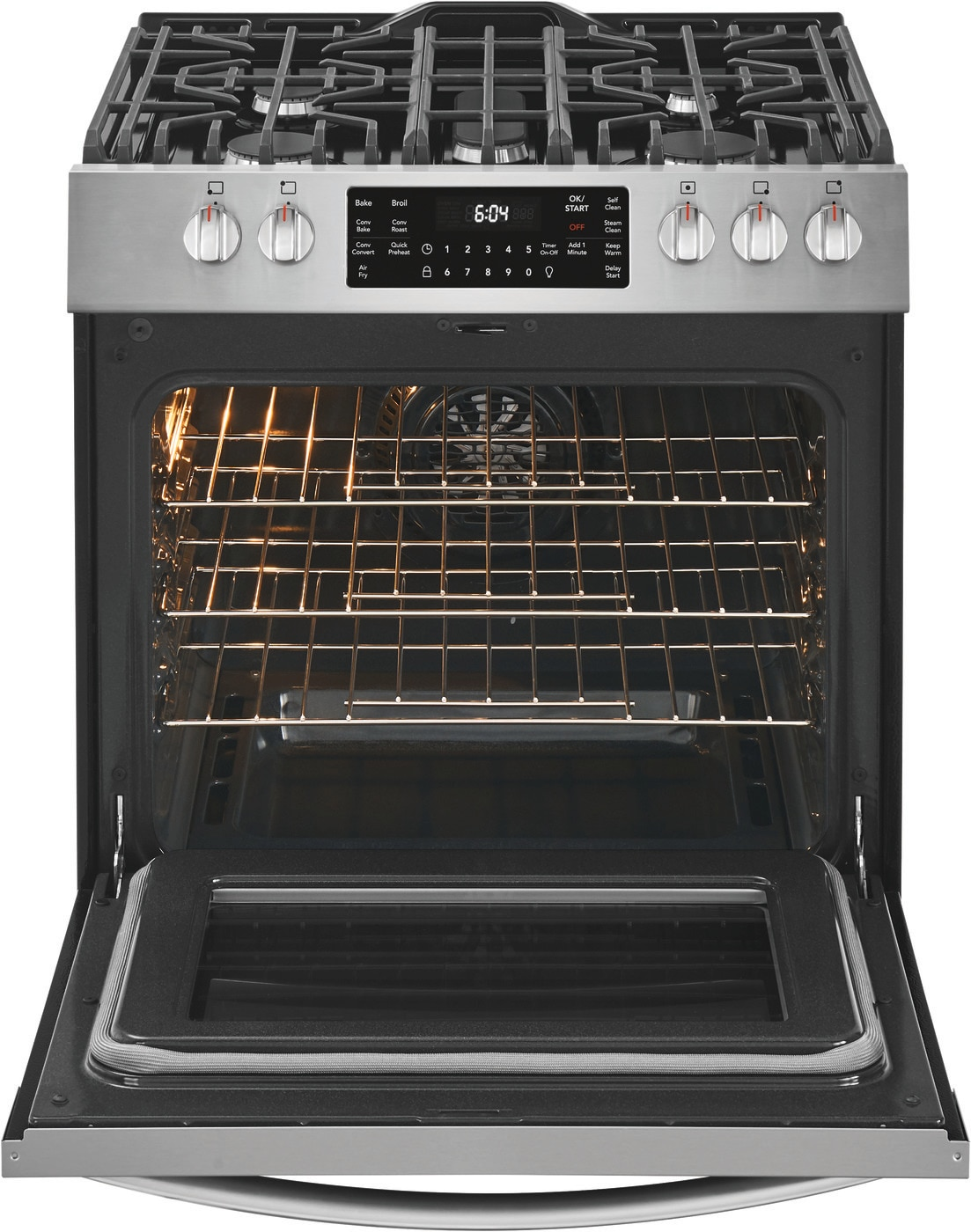 "30"" Front Control Gas Range with Air Fry Stainless Steel FGGH3047VF"