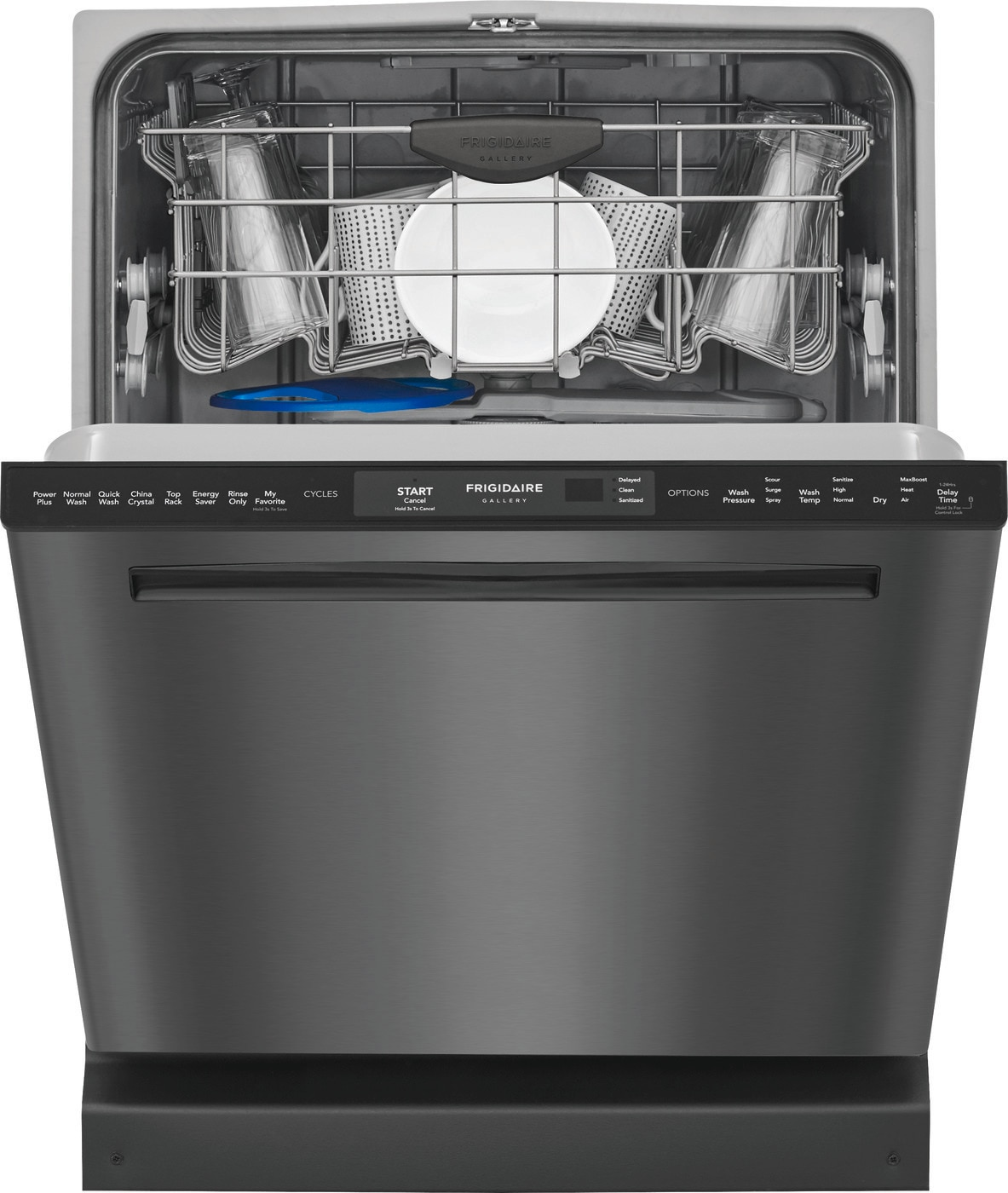 "24"" Built-In Dishwasher with Dual OrbitClean® Wash System Black Stainless Steel FGIP2468UD"