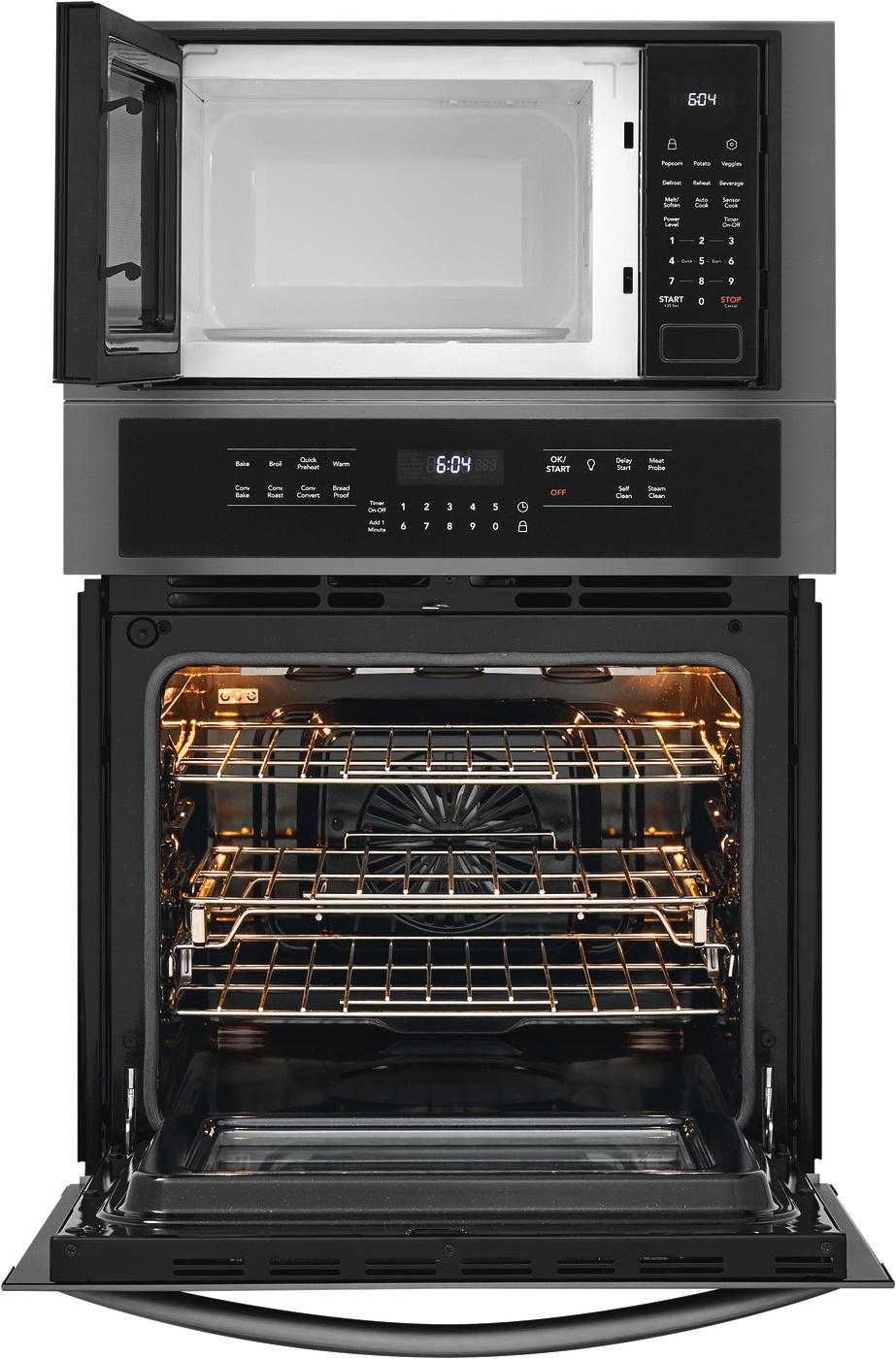 "27"" Electric Wall Oven/Microwave Combination Black Stainless Steel FGMC2766UD"