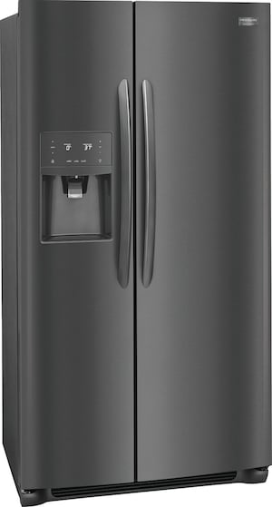 22.2 Cu. Ft. Counter-Depth Side-by-Side Refrigerator Black Stainless Steel FGSC2335TD