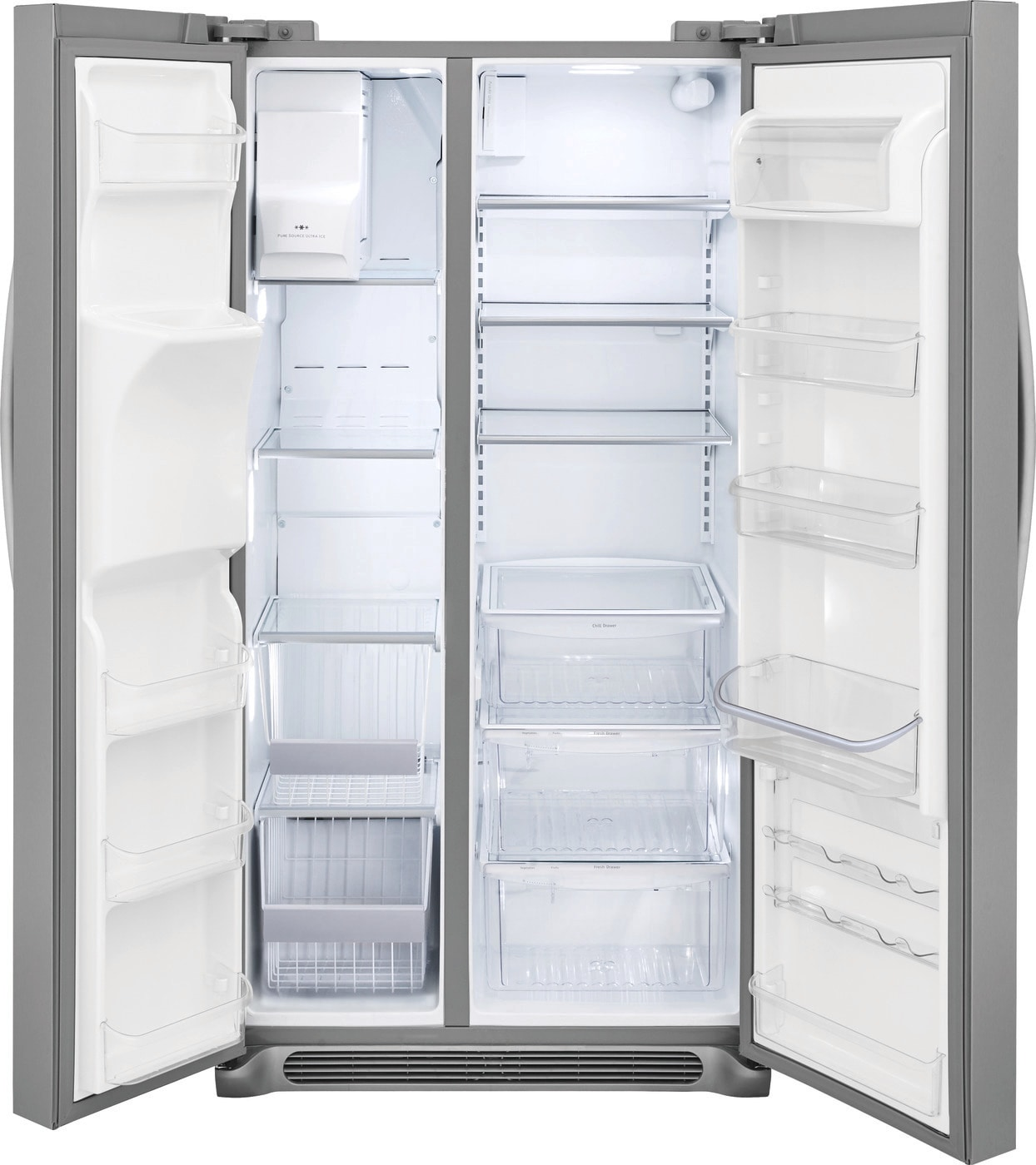 22.2 Cu. Ft. Counter-Depth Side-by-Side Refrigerator Stainless Steel FGSC2335TF