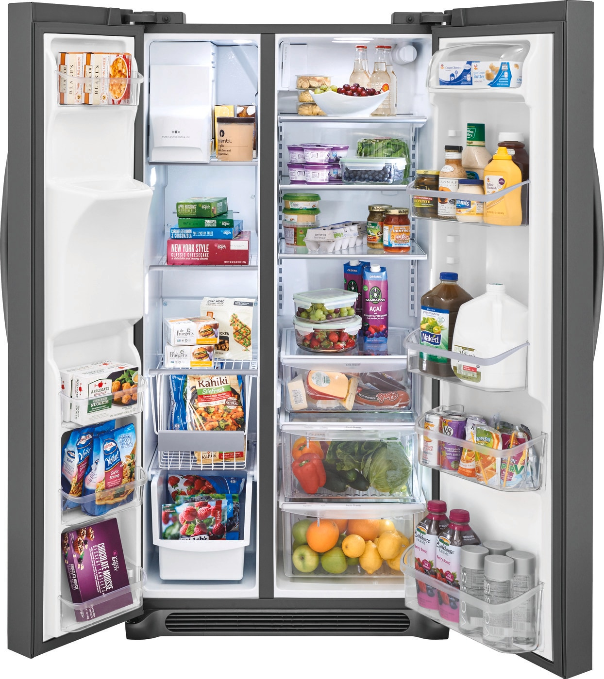 25.5 Cu. Ft. Side-by-Side Refrigerator Black Stainless Steel FGSS2635TD