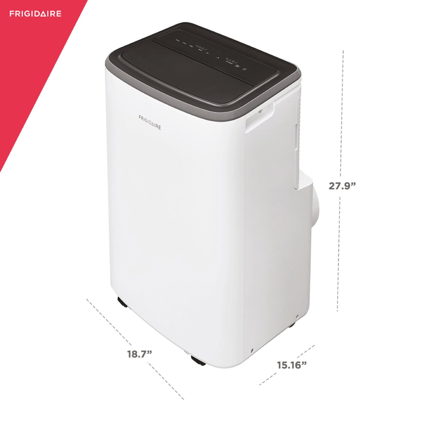 13,000 BTU Portable Room Air Conditioner with Dehumidifier Mode White FHPC132AB1