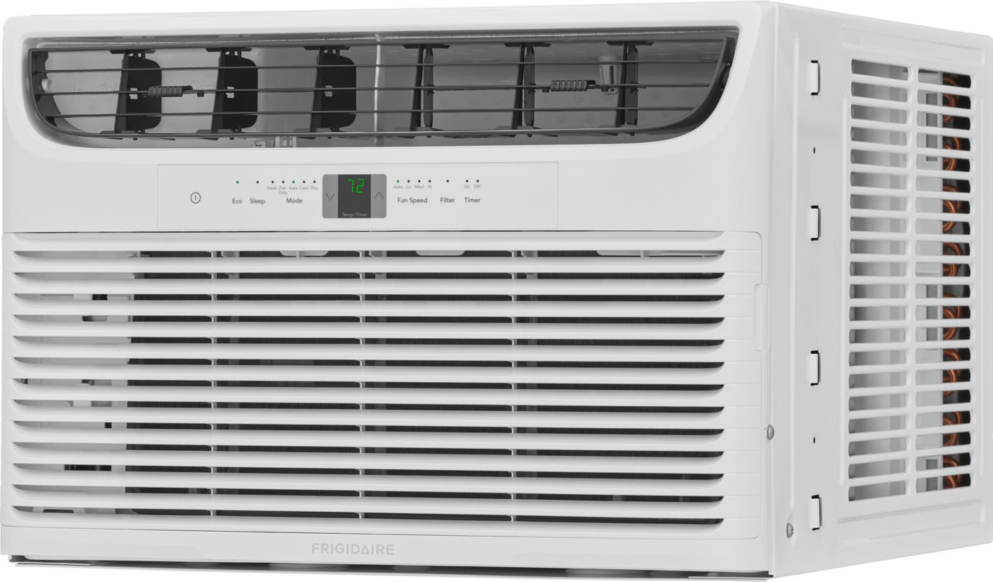 Frigidaire 11,000 BTU Window Air Conditioner with Supplemental Heat and Slide Out Chassis White FHWH112WA1