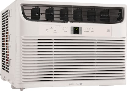 12,000 BTU Connected Window-Mounted Room Air Conditioner White FHWW123WBE