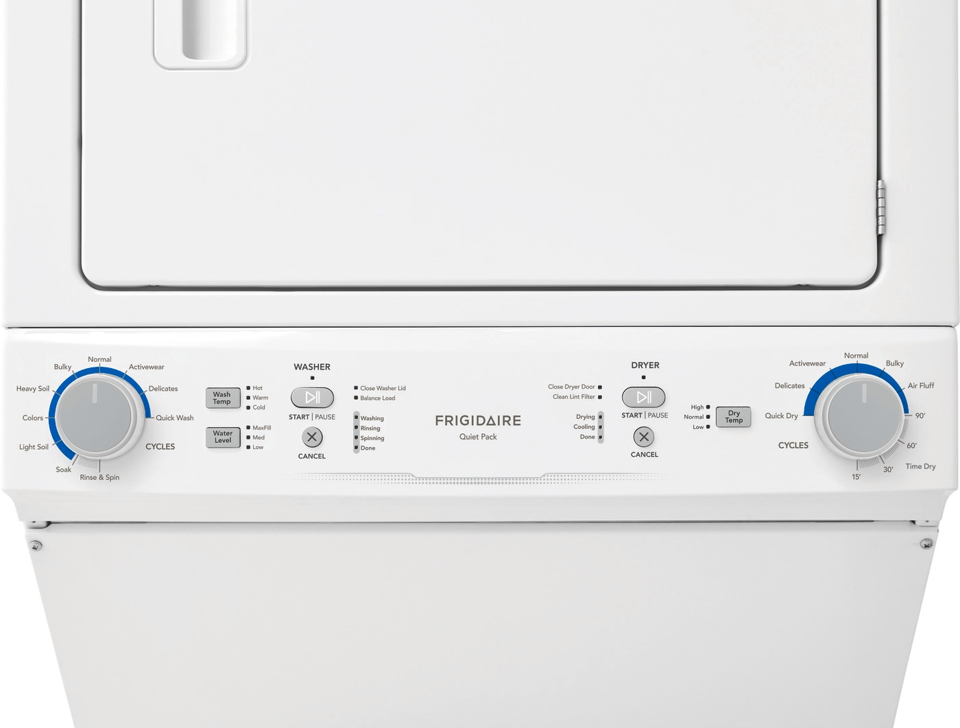 Electric Washer/Dryer Laundry Center - 4.3 Cu. Ft Washer and 5.6 Cu. Ft. Dryer White FLCE752CAW