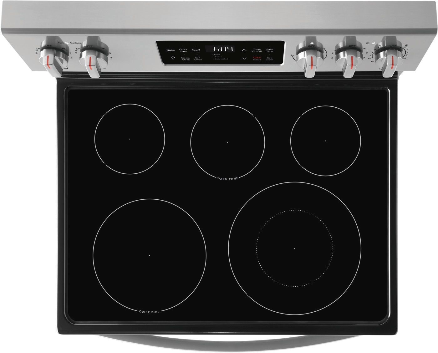 "30"" Freestanding Electric Range with Steam Clean Stainless Steel GCRE3038AF"