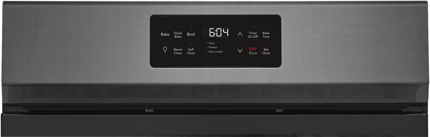 "30"" Freestanding Gas Range with Steam Clean Black Stainless Steel GCRG3038AD"