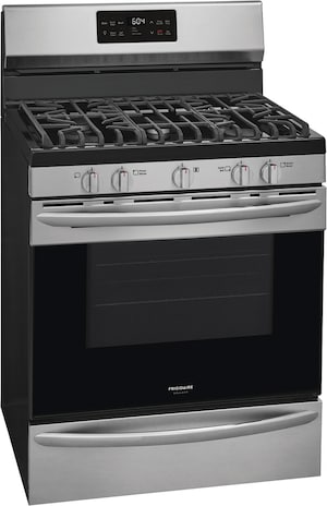 "30"" Freestanding Gas Range with Steam Clean Stainless Steel GCRG3038AF"