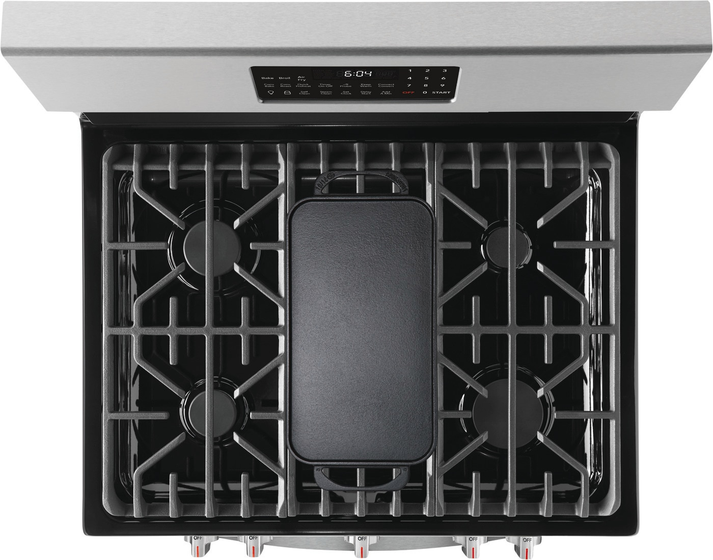 "30"" Freestanding Gas Range with Air Fry Stainless Steel GCRG3060AF"