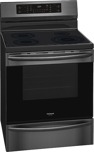 """30"""" Freestanding Induction Range with Air Fry Black Stainless Steel GCRI3058AD"""