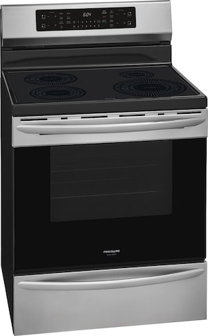 """30"""" Freestanding Induction Range with Air Fry Stainless Steel GCRI3058AF"""