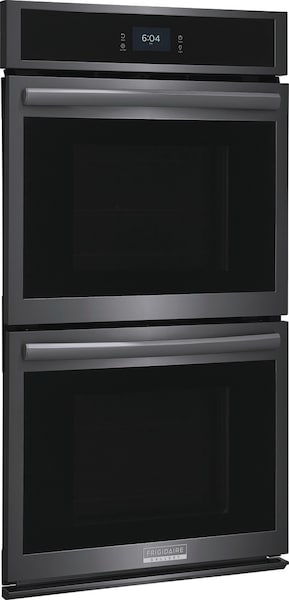 """27"""" Double Electric Wall Oven with Total Convection Black Stainless Steel GCWD2767AD"""
