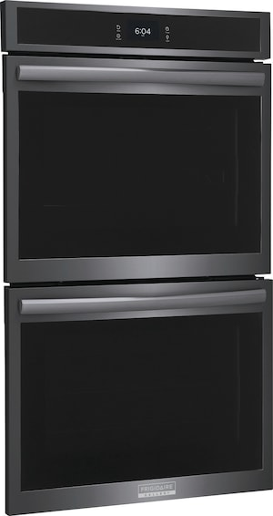 """30"""" Double Electric Wall Oven with Total Convection Black Stainless Steel GCWD3067AD"""