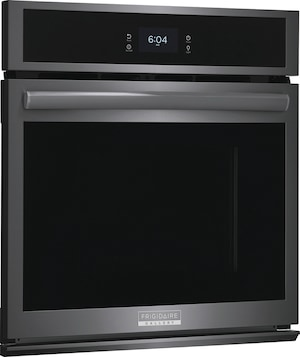 """27"""" Single Electric Wall Oven with Total Convection Black Stainless Steel GCWS2767AD"""